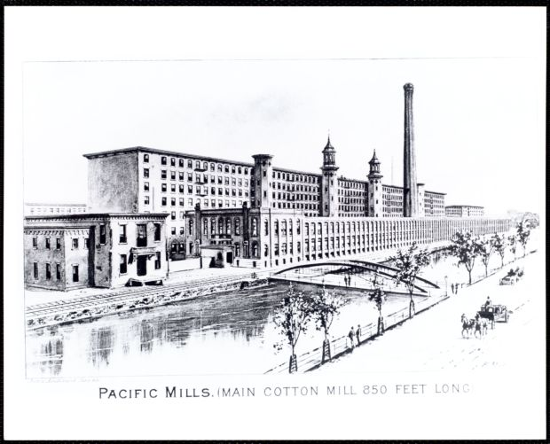 Pacific Mills. (Main cotton mill 850 feet long)