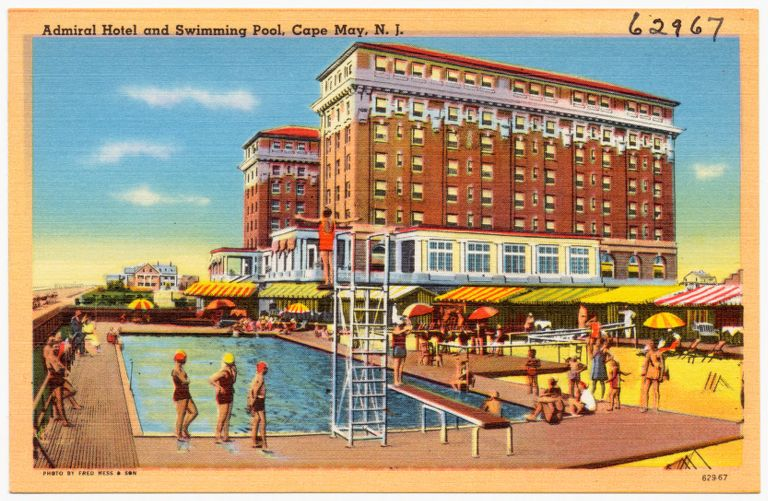 Admiral Hotel and swimming pool, Cape May, N. J.