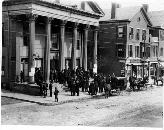 Election Day at Town Hall, 1902.